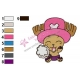 Happy Tony Chopper One Piece Embroidery Design